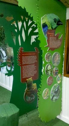 Projeto Exposição Temática do Parque Estadual Intervales, executado pela Ecoview Sinalização Sustentável