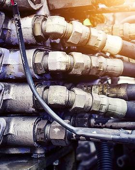 Hydrostatic motor of the crane.Crane eng