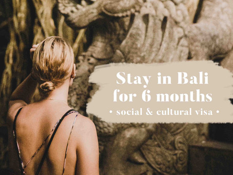 Travel Tip #1 : How to stay in Bali for 6 months ?