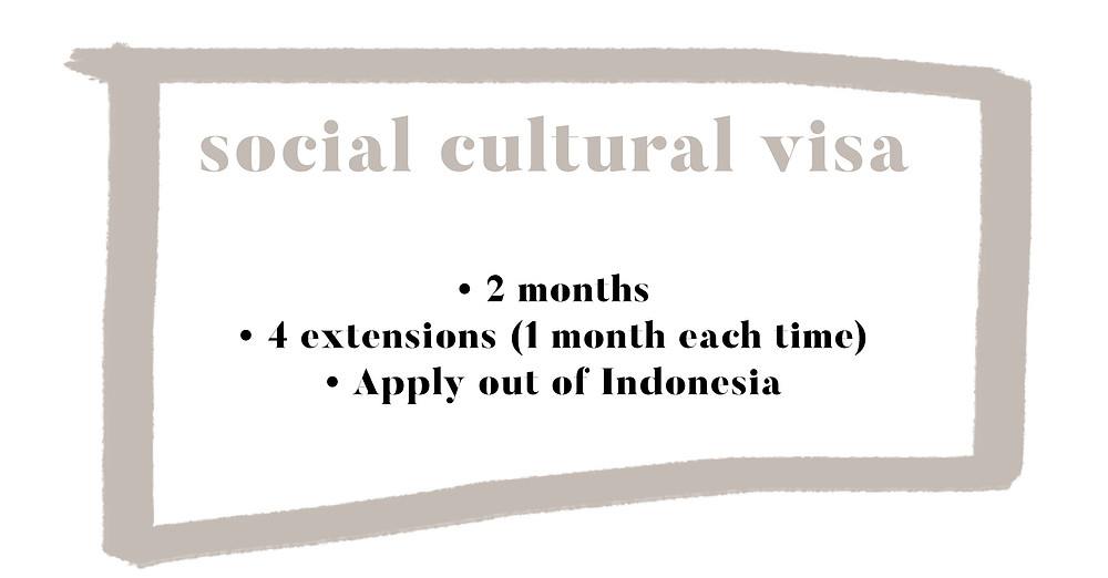 Social and cultural visa Bali