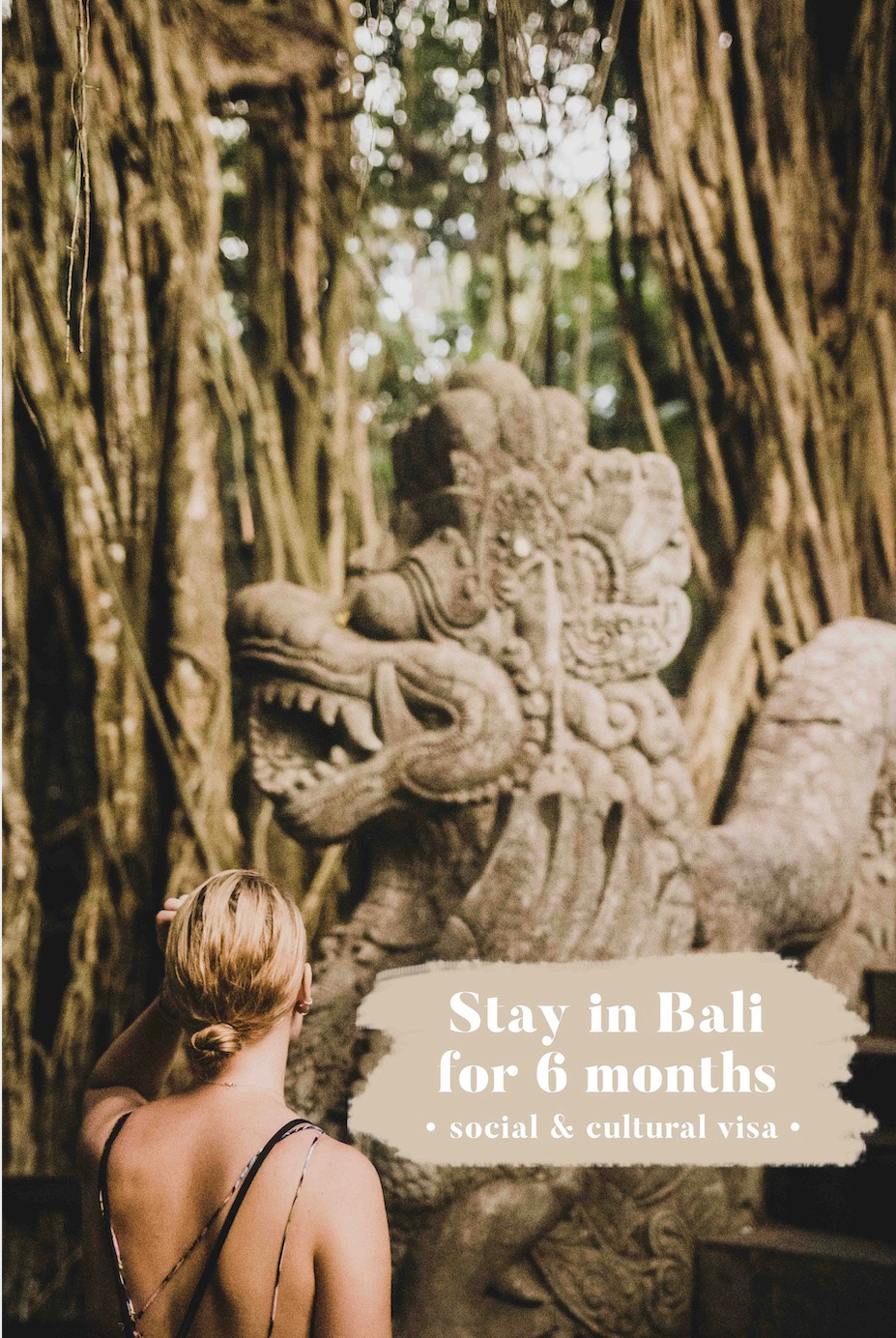 Stay in Bali for 6 months (social and cultural visa)