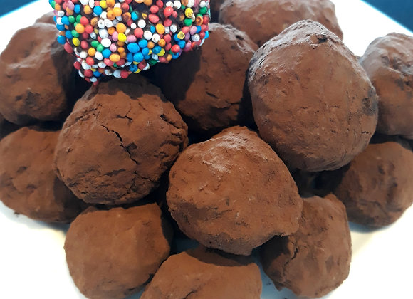 Belgian chocolate truffles kit