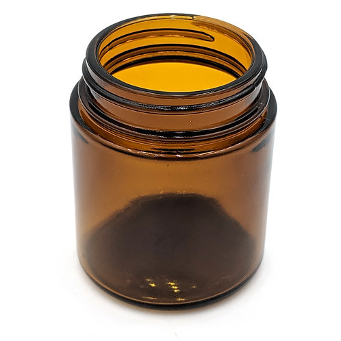 4oz Amber Glass Jar 58-400   SKU:BSJ-033