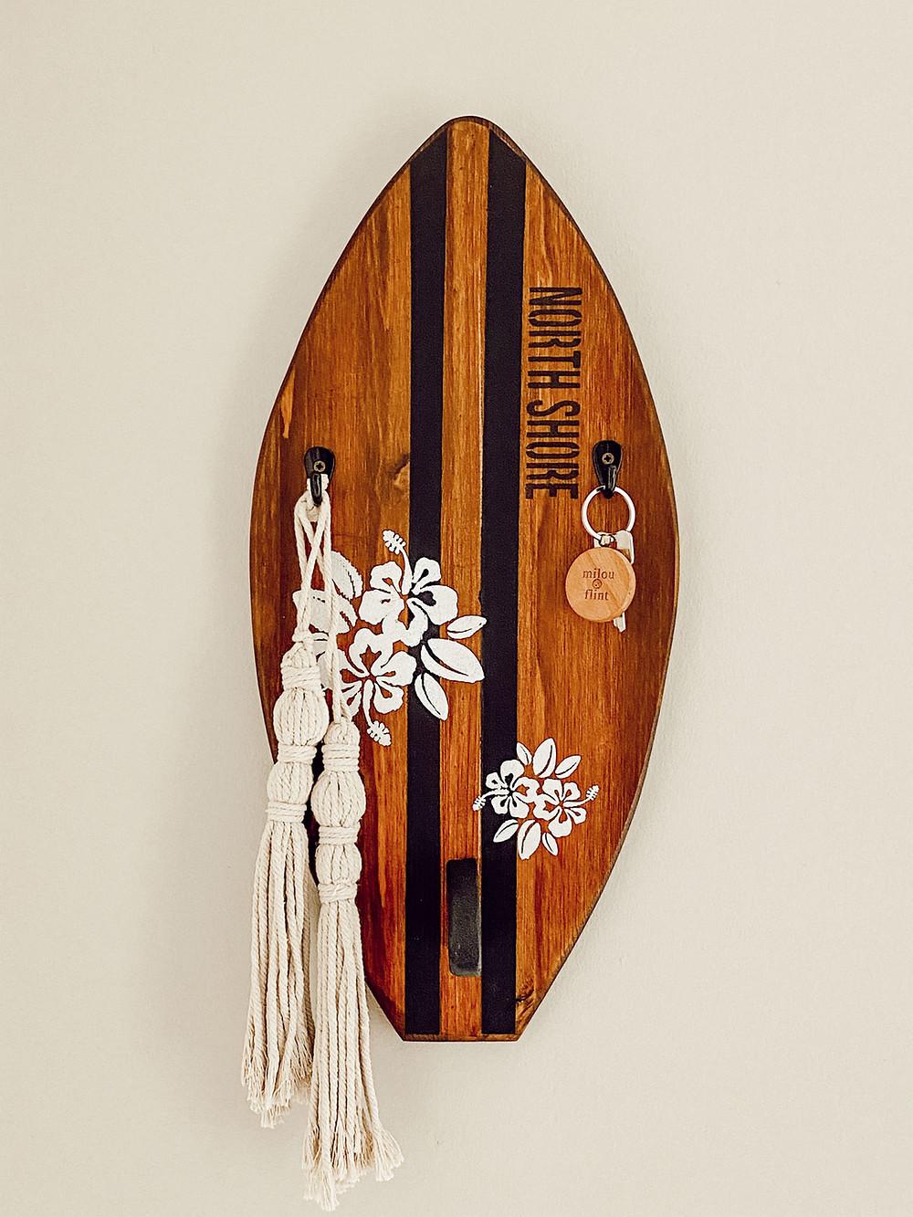 Schlüsselbrett im Surfdesign