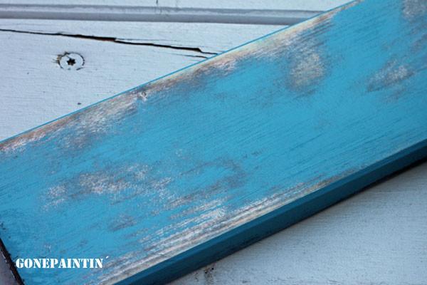 Schleifmaschine und Kreidefarbe