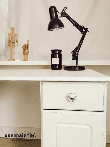 Schreibtisch upcycling mit Kreidefarbe