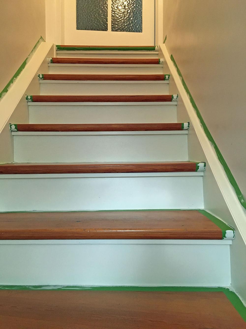 Treppe streichen mit Kreidelack