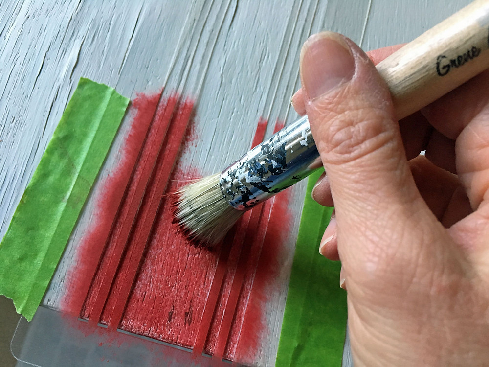 Grain Sack Stripes Schablone streichen