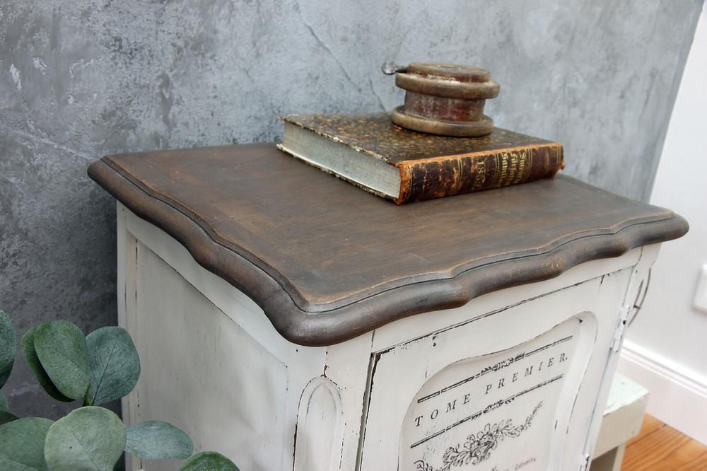 Möbel upcycling mit Milk Paint und Redesign Transfer