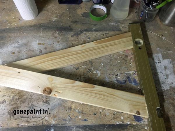 einen Buchstaben aus Holz bauen