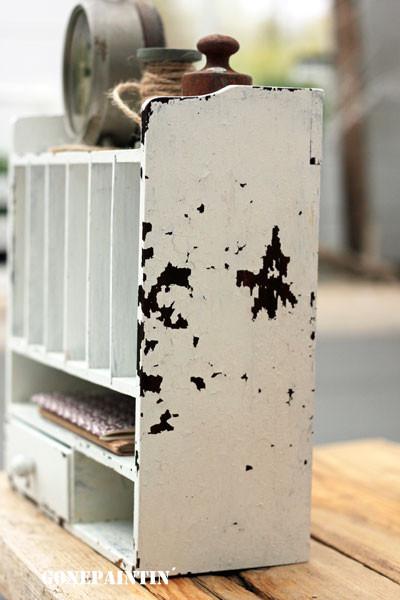 Miss Mustard Seeds Milk Paint bildet Abblätterungen