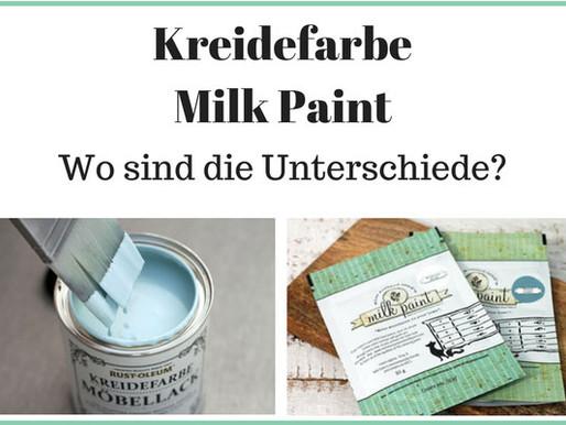 Kreidefarbe - Milk Paint - Wie unterscheiden sie sich?