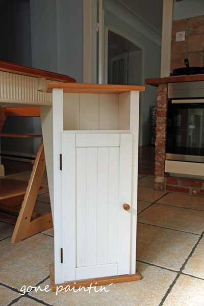 ikea hack alte schrankt r wird zum k chenregal gonepaintin shabby chic diy blog. Black Bedroom Furniture Sets. Home Design Ideas