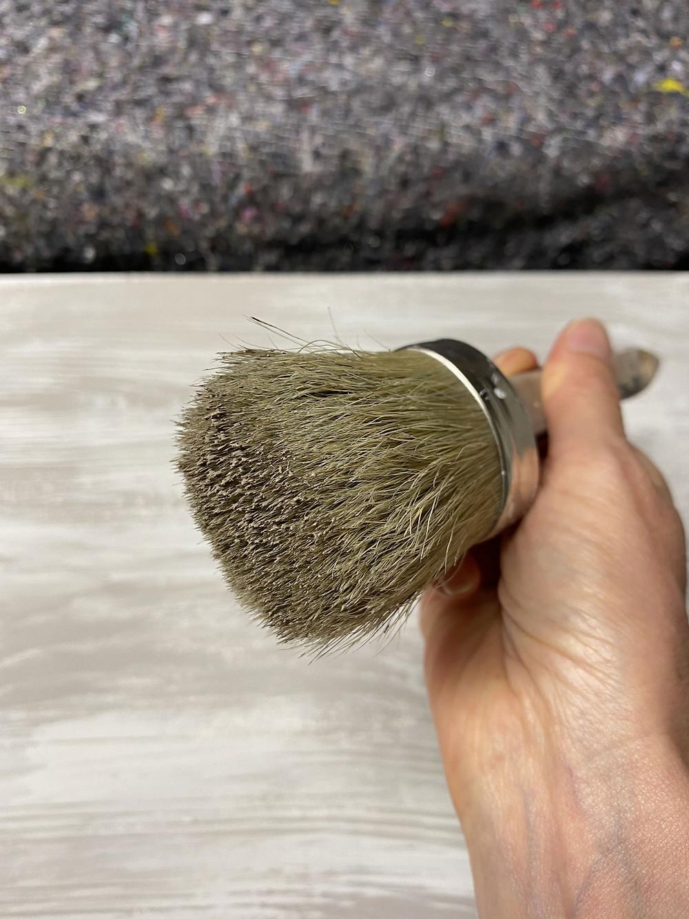 dry brush für Holzoptik mit Wood Grain Tool