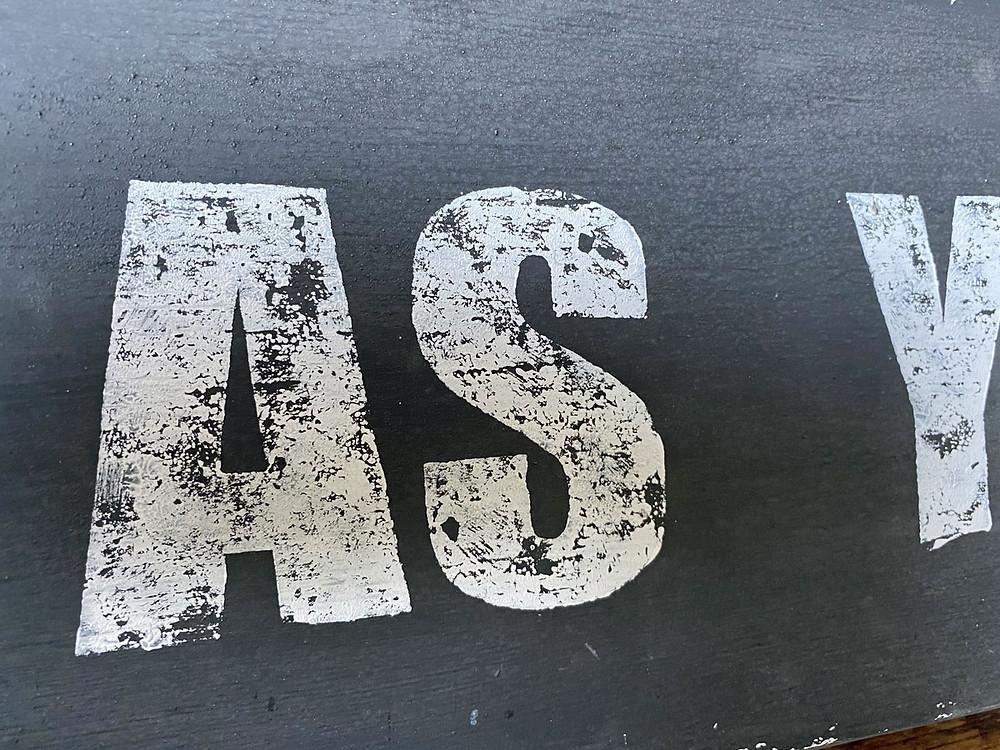 Buchstaben Stempel von IOD