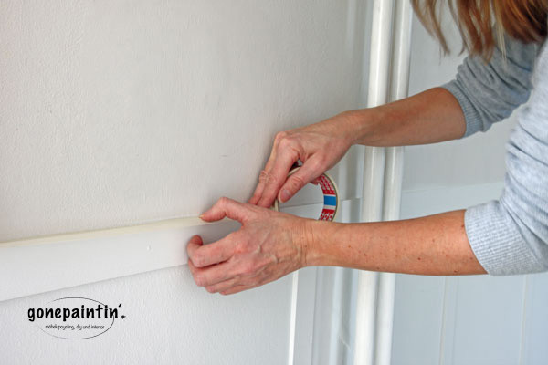 Richtig abkleben vor dem Wände streichen