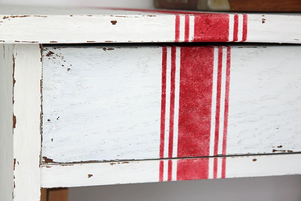 Grain Sack Stripes Schablone von Jami Ray Vintage