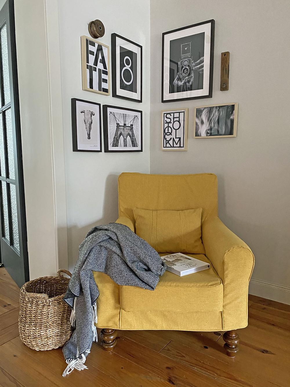 Sesselbezug selber nähen Ikea Hack