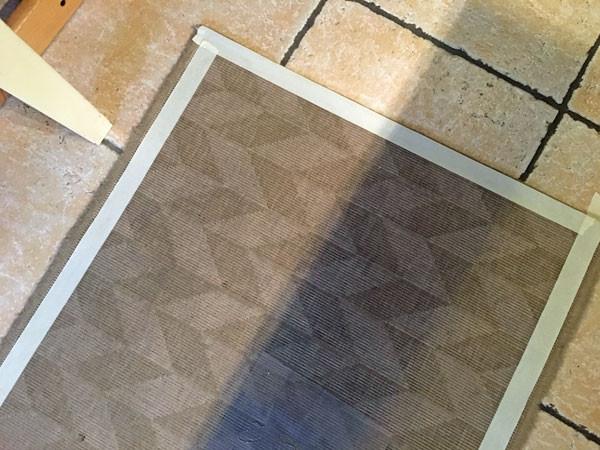 Fußmatte abkleben für Schablone mit Fusion Mineral Paint