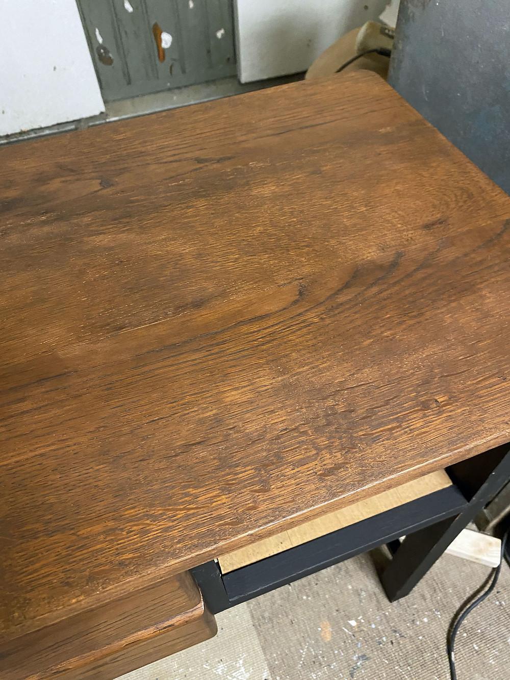 Deckplatte wachsen mit Dixie Belle Paint Wax