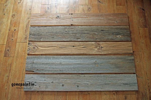 Altholz von Bauhaus für die DIY Holzbank