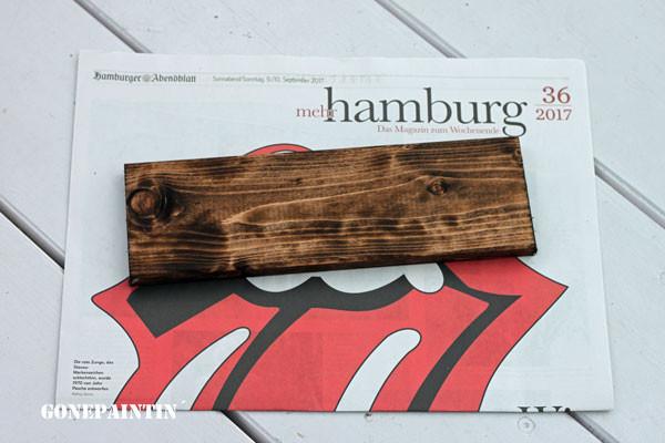 Holz beizen für den shabby chic