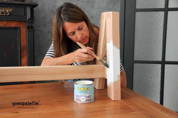 Kreidefarbe von Bondex für die DIY Holzbank