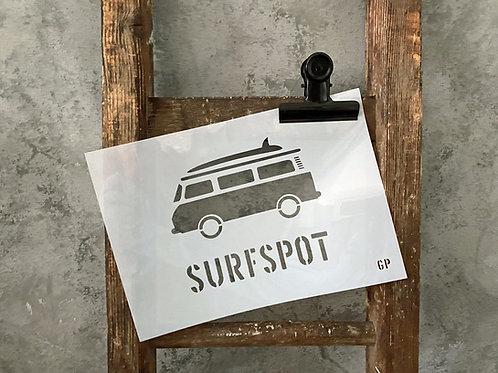 Schablone Surfspot