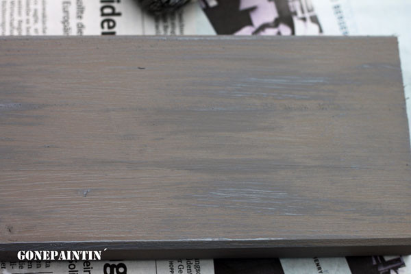 dry brushing mit Kreidefarbe