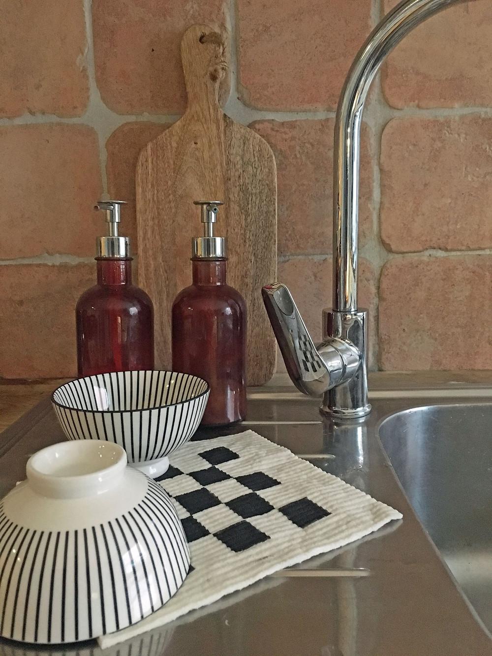 Küchentücher selber bemalen mit Schablone