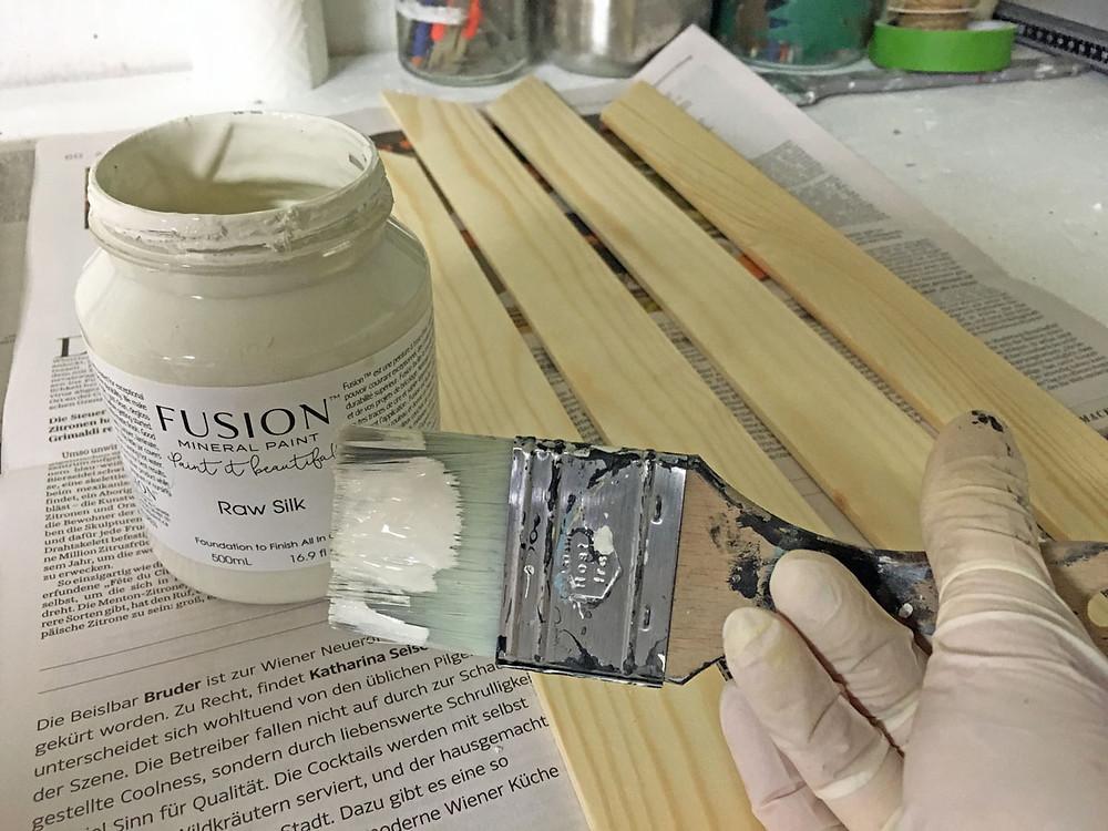 Fusion Mineral Paint für die Küchenabschlusswand