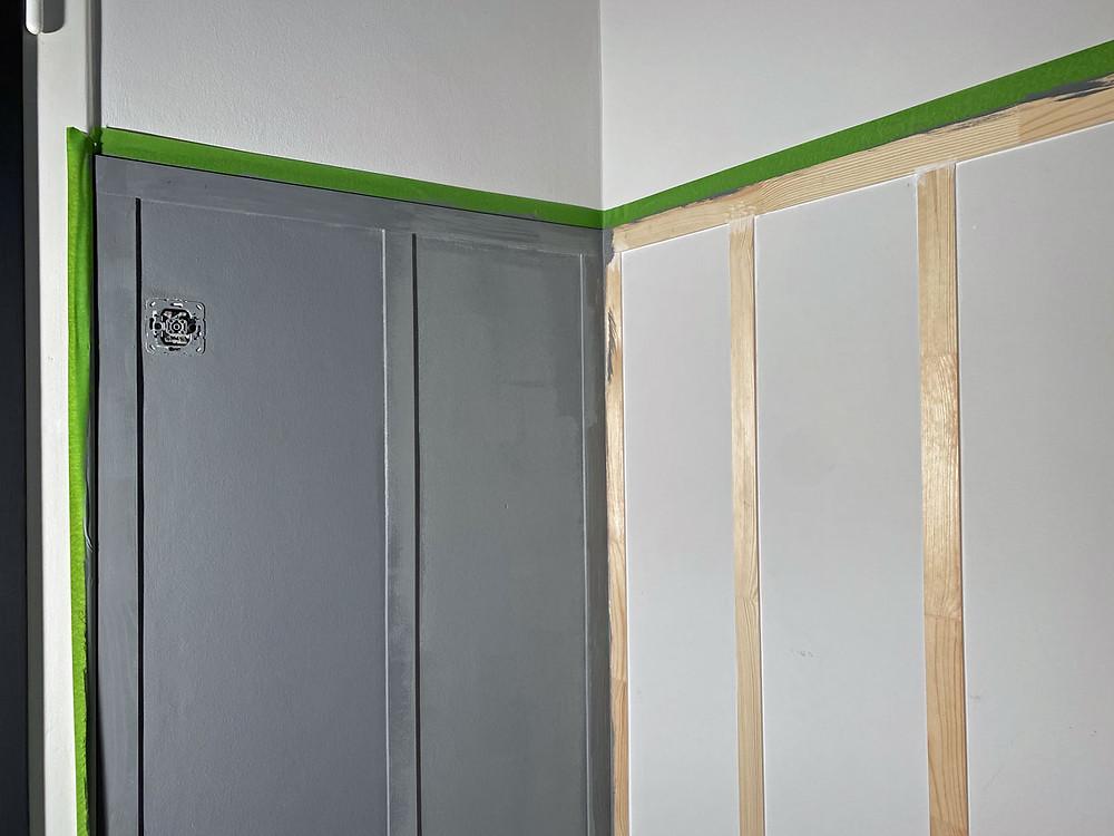 DIY Wand Täfelung mit Farbe von Painting the Past