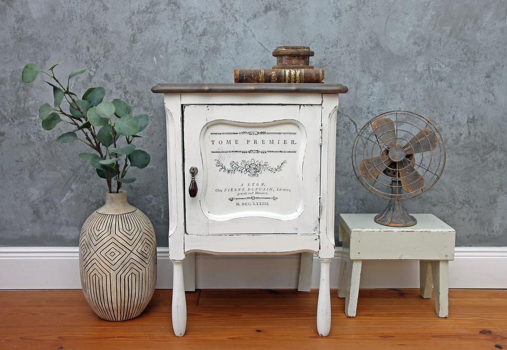 Möbel streichen mit Milk Paint und Redesign Transfer