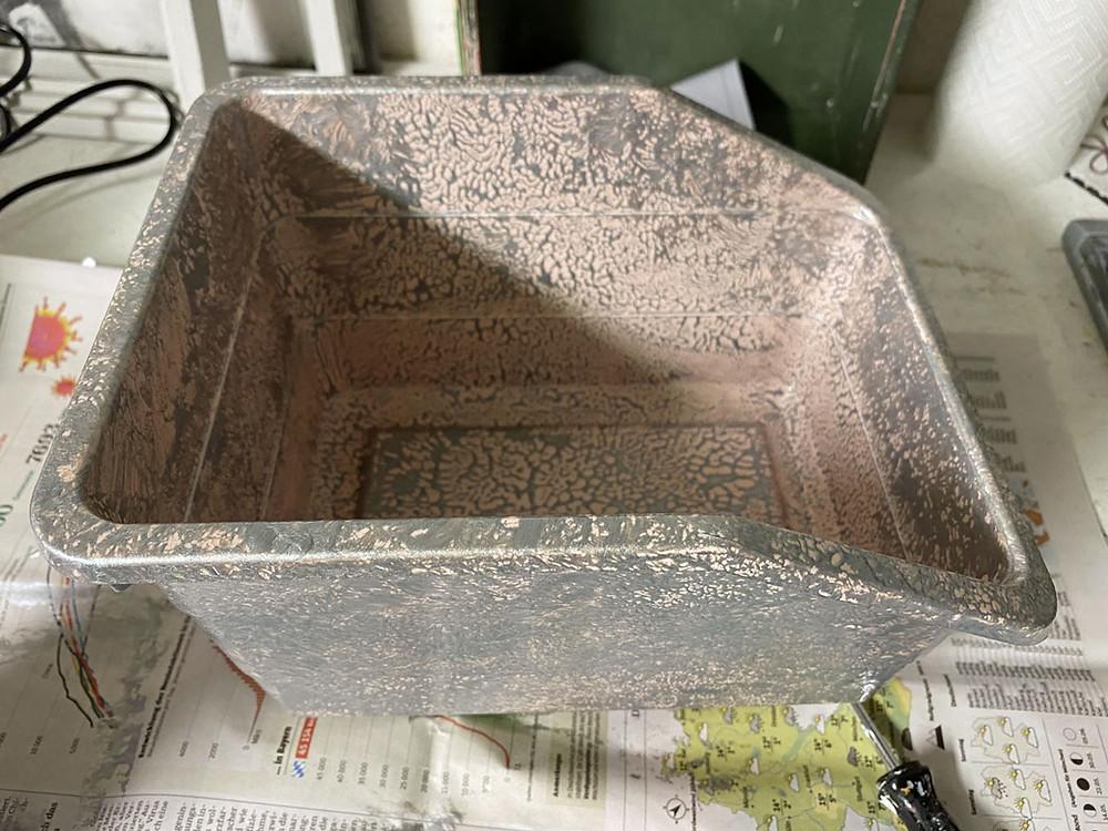 metallic Kreidefarbe für Plastikbox
