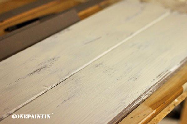Kreidefarbe Holzschild