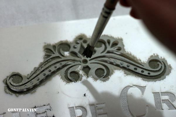 Pinsel für die Stempelarbeiten
