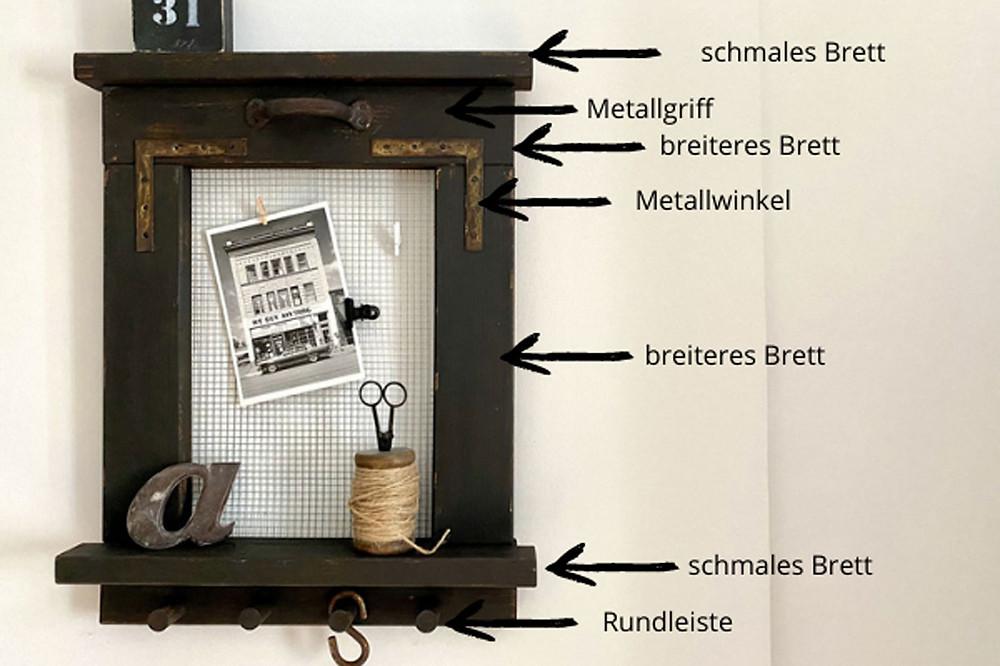 DIY Wandorganizer im shabby chic Stil - mit wolfcraft Meisterdübler