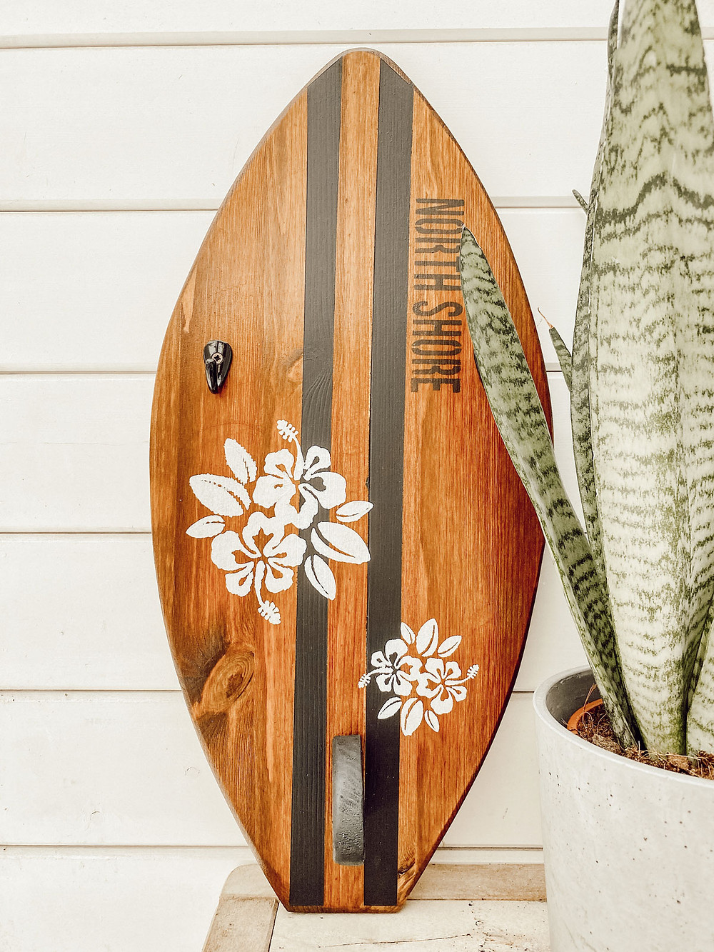 Schlüsselbrett im Surf Design