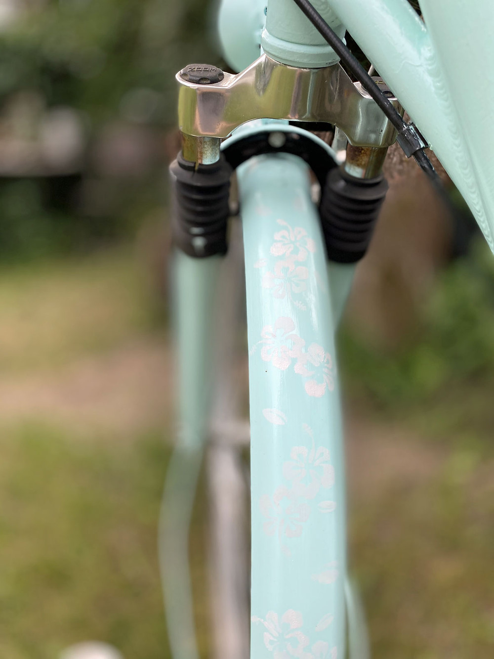 Fahrrad streichen mit Schablone und Fusion Mineral Paint