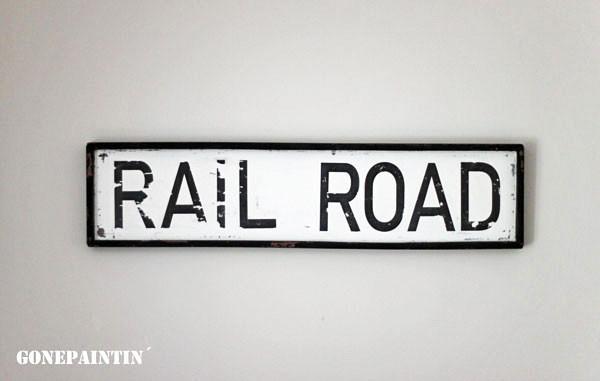 rail road Schild