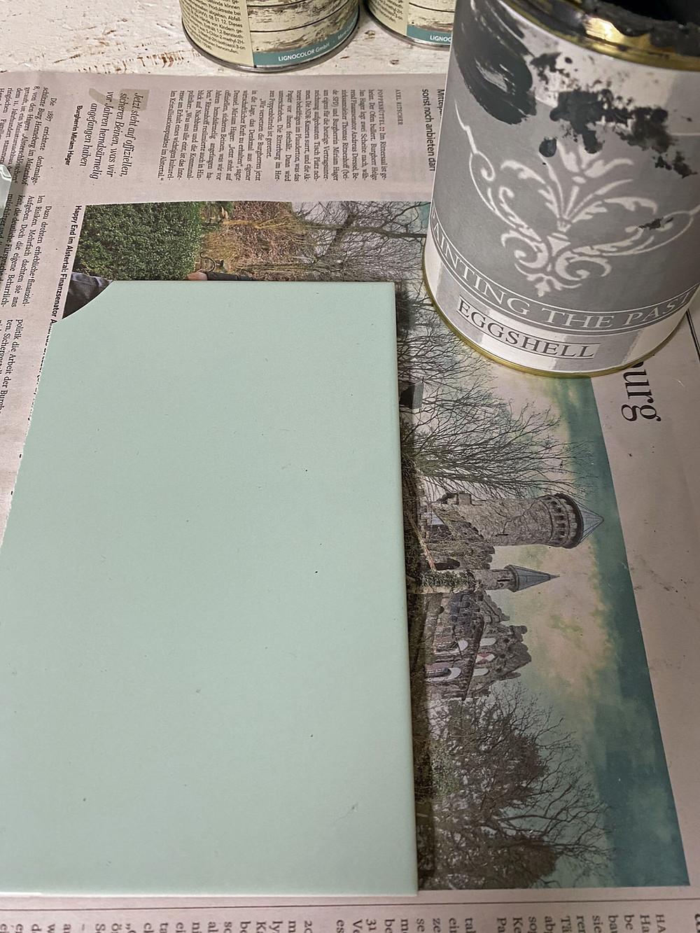 Fliesen streichen mit Kreidefarbe - Hält das? Mein Test!