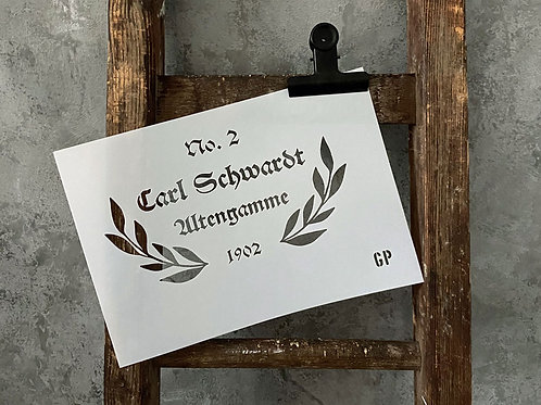 Schablone Altengamme