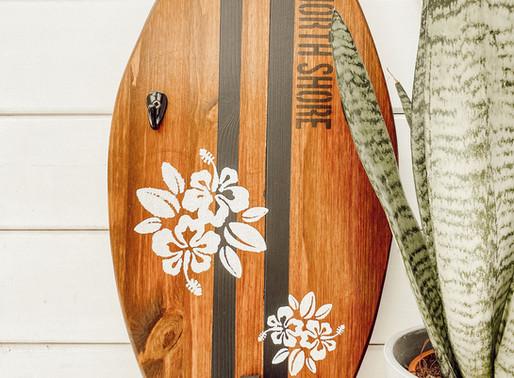 DIY SCHLÜSSELBRETT IM SURFDESIGN