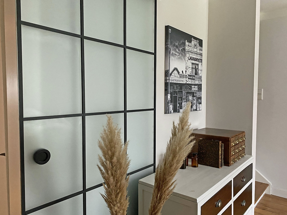 Glastür Upcycling mit Holz DIY Crittall Door Sprossentür