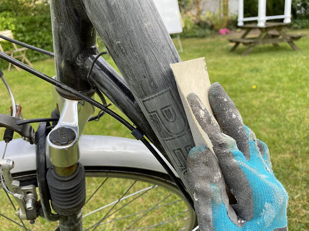 Fahrrad anschleifen und streichen