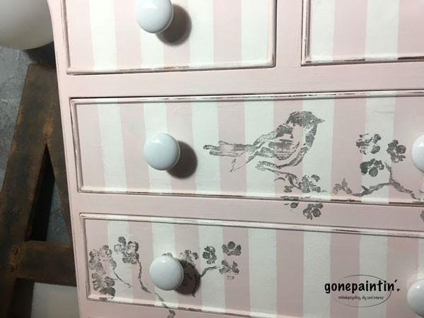 IOD Stamps mit Vögeln für den shabby chic Stil