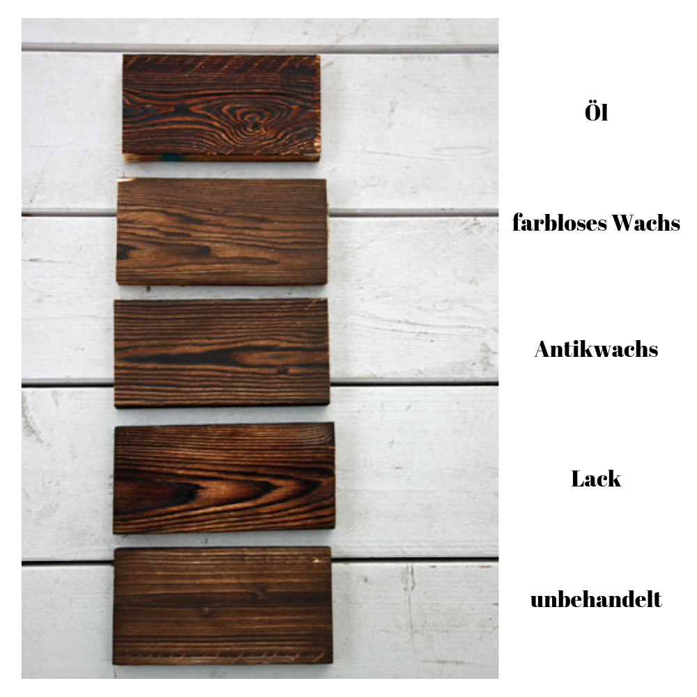 abgeflammtes Holz versiegeln