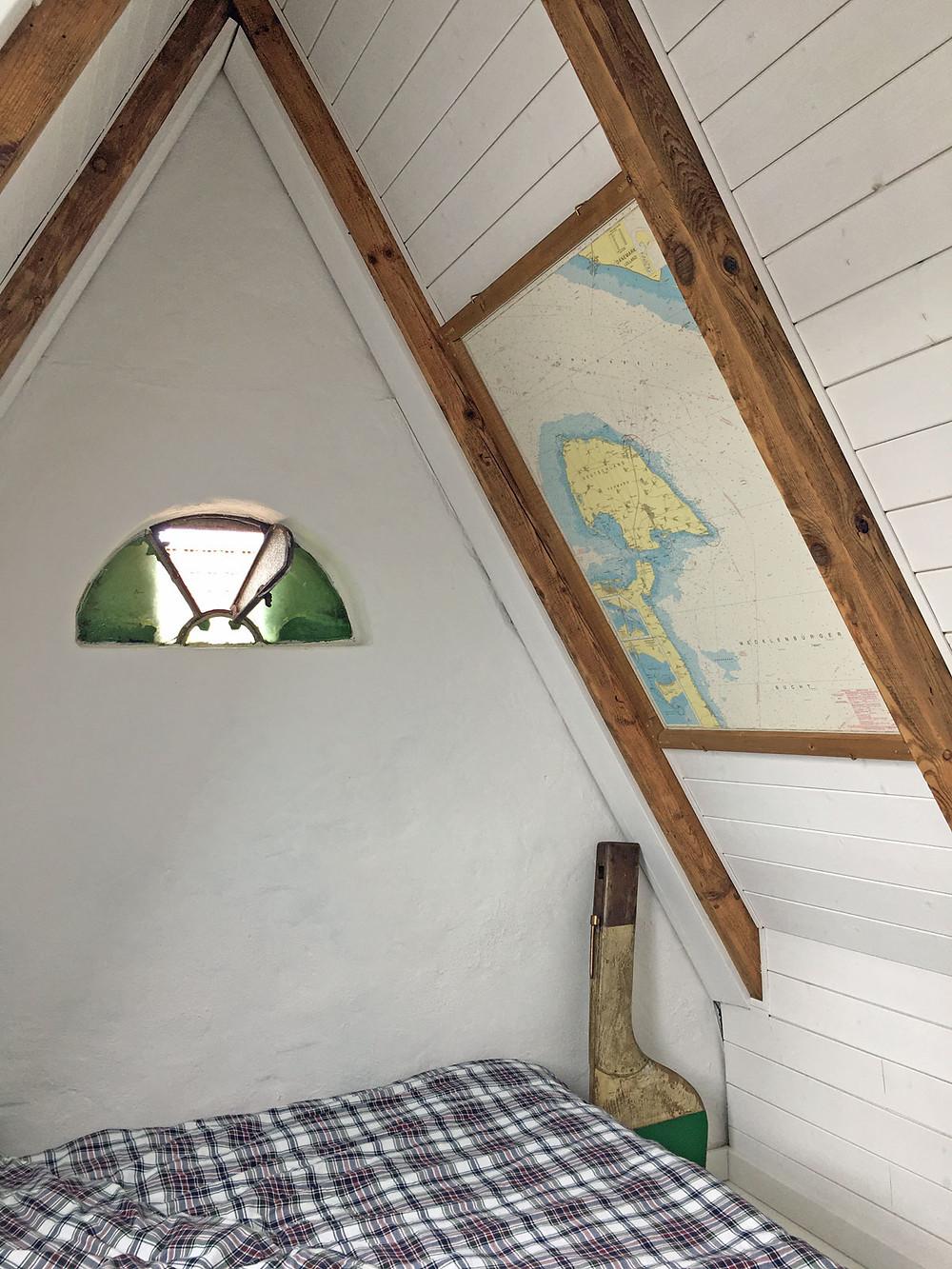 Seekarte antik mit DIY Holzrahmen selber bauen