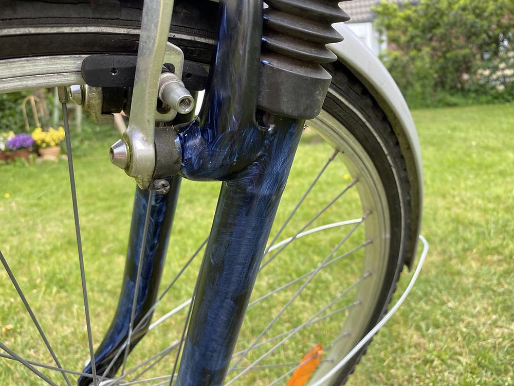Fahrrad grundieren und streichen