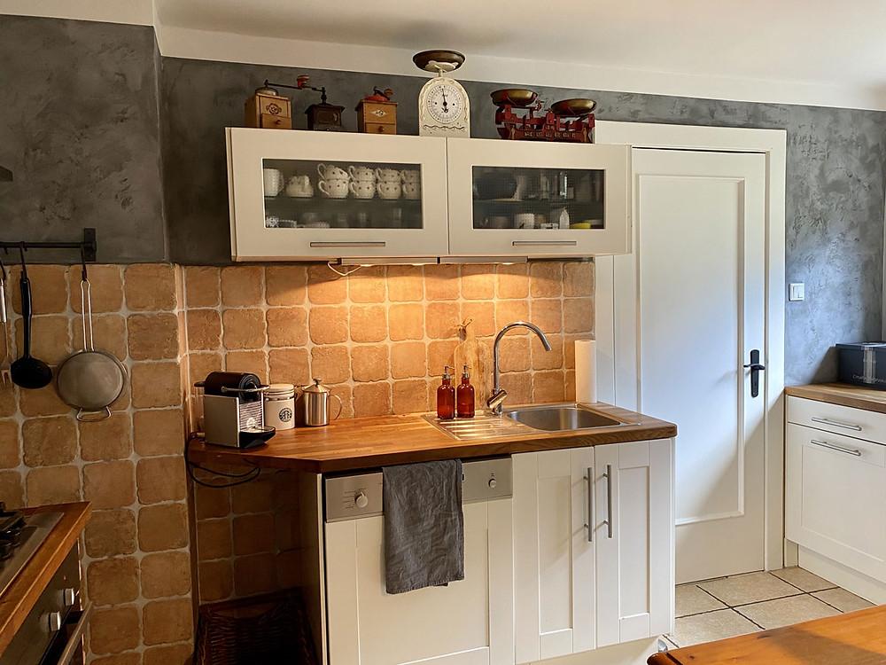 Küche streichen mit Fresco Kalkfarbe